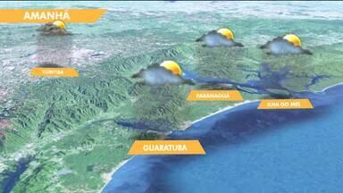 Pode chover em Curitiba e no litoral nessa terça-feira (10) - O frio continua ao longo da semana.