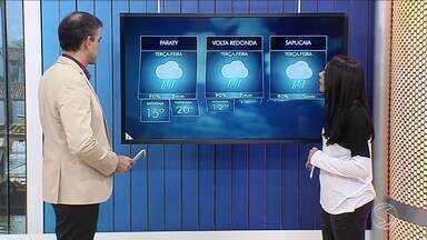 Frente fria pode trazer chuva ao Sul do Rio - Temperaturas devem cair em toda região.
