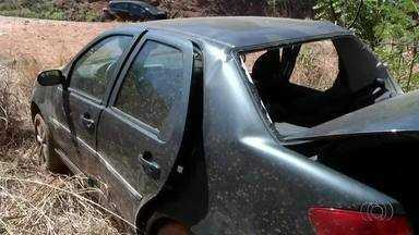Três pessoas ficam feridas após acidente na região central do estado - Três pessoas ficam feridas após acidente na região central do estado