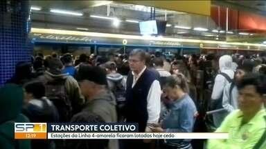 Manhã foi marcada por problemas nas linhas 11-Coral da CPTM e 4-Amarela do Metrô - Passageiros relatam discussão entre passageiro e ambulante entre as estações Luz e Brás.