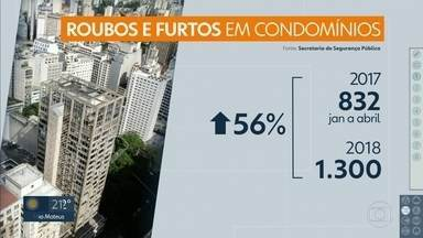 Aumenta número de roubos e furtos em Condomínios - Márcio Rachkorsky comenta.