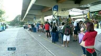 Terminal de Itaparica está interditado e causa mudanças no Transcol, em Vila Velha - Local vai ficar fechado por tempo indeterminado.