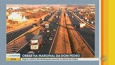 Obras na Rodovia Dom Pedro, em Campinas, terminam nesta quinta - Intervenção é no km 141, perto da Ceasa.