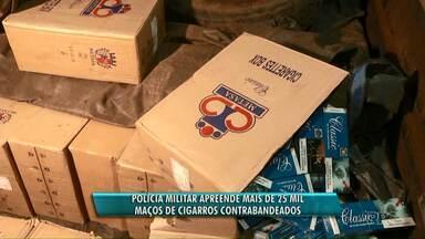Polícia apreende mais de 25 mil maços de cigarros contrabandeados no sudoeste - Havia cigarro pronto pra ser carregado em caminhões