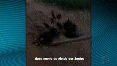 Moradores de povoado de São Cristóvão reclamam das condições de estrada - Prefeitura diz que serviço de pavimentação não foi realizado em virtude do tempo chuvoso.