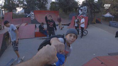 Skate Na Pista de Bike