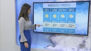 Veja a previsão do tempo na região de Ribeirão Preto, nesta sexta-feira (27) - Temperatura máxima chega a 32°C.