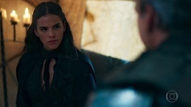 Otávio confronta Catarina sobre ser plebeia - Ela mente para o Rei e diz que são apenas provocações de Afonso e Amália