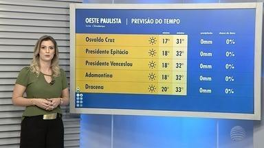 Confira a previsão do tempo para esta sexta-feira - Veja como ficam as temperaturas na região de Presidente Prudente.