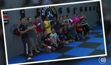 Massaranduba troca experiências com vários lutadores piauienses - Massaranduba troca experiências com vários lutadores piauienses