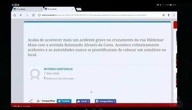 Tô na Rede: acidente no curzamento da rua Hildemar Maia com a avenida Raimundo Alvares - Internauta registra pelo aplicativo da Rede Amazônica que autoridades não se prontificam em colocar um semáforo no local afim de evitar acidentes