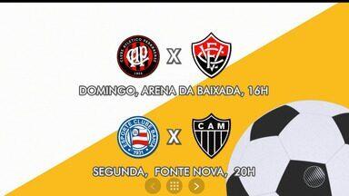 Futebol: Vitória derrota o Sport por 1 a 0 pelo Campeonato Brasileiro - Confira também a programação com os jogos para este final de semana.