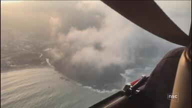 Bombeiros buscam aeronave de pequeno porte que teria caído no mar no Litoral Norte de SC - Bombeiros buscam aeronave de pequeno porte que teria caído no mar no Litoral Norte de SC