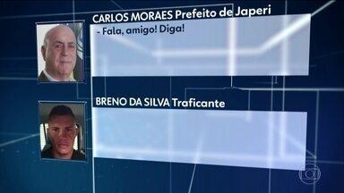 Prefeito de Japeri (RJ) é preso suspeito de ligação com o tráfico - Gravação mostra Carlos Moraes Costa, do Progressistas, conversando com chefe de uma quadrilha de traficantes da localidade de Guandu.