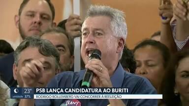 PSB lança candidatura ao governo do DF - O Partido Socialista Brasileiro formalizou, neste sábado (28), a candidatura de Rodrigo Rollemberg à reeleição ao governo do DF. O anúncio foi na convenção do PSB, que tem aliança com os partidos Rede Sustentabilidade e PV.