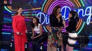 Carol Castro e Solange Couto acertam e Monarco Lima vai ao palco - Dupla abre o placar do 'Ding Dong'