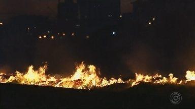 Queimadas em áreas próximas a rodovias em Marília causam transtornos aos motoristas - Um levantamento do Instituto Nacional de Pesquisas Espaciais, o Inpe, mostra que neste ano São Paulo registrou mais de 1,8 mil focos de incêndio 80% a mais que no mesmo período no ano passado. Na região de Marília, todos os dias os bombeiros recebem dezenas de chamadas de fogo em mato. Além de prejudicar a saúde, a fumaça também é risco para os motoristas.