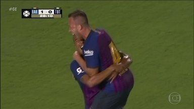 Arthur marca o primeiro gol com a camisa do Barcelona - Arthur marca o primeiro gol com a camisa do Barcelona