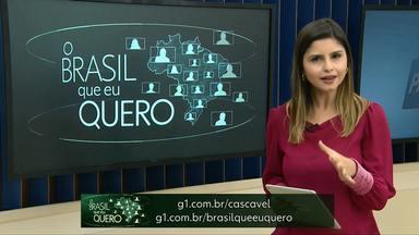 Participe da campanha Brasil Que Eu Quero - Cidades de Diamante do Sul, Entre Rios do Oeste e Maripá ainda não foram representadas na campanha.