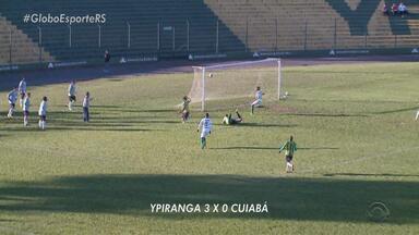 Ypiranga goleia por 3 a 0 equipe do Cuiabá, em Erechim - Assista ao vídeo.
