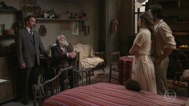 O Barão tenta convencer Ema a desistir do casamento com Ernesto - Ernesto pede um voto de confiança ao avô da noiva e Ema decide ter uma conversa a sós com o Barão