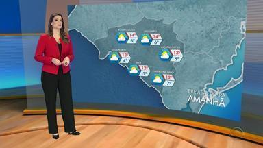 Tempo: terça-feira (31) tem baixas temperaturas e predomínio de sol - Assista ao vídeo.