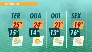 Tem previsão de chuva nesta semana para a região de Londrina - Já são 47 dias sem chuva. Mas para esta terça-feira (31) não estão previstos grandes volumes.