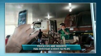 Duas vítimas atingidas por caminhão recebem alta do hospital - O acidente foi na PR-092, em Siqueira Campos.