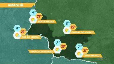 Tempo segue firme na região - Veja a previsão no mapa.