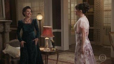Lady Margareth expulsa Susana de seu quarto - A inglesa perde a cabeça ao ouvir Susana se comparar a Briana