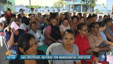 Mutirão tem mamografias gratuitas no bairro de São Cristovão em Salvador - Os atendimentos seguem até a quarta-feira (8); veja como participar.