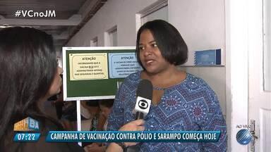 Campanha de vacinação contra poliomielite e sarampo começa nesta segunda (6) - Na Bahia, a expectativa é de que 849 mil crianças sejam vacinadas.