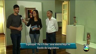 Exposição 'Pai e Filho' será aberta nesta quinta-feira na Escola do Legislativo - Obras fazem uma homenagem ao dia dos pais e ao folclore brasileiro.