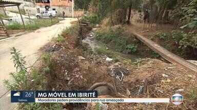 MG Móvel: Moradores pedem providência para rua sem asfalto em Ibirité, na Grande BH - Reclamação vem de quem mora no bairro Nossa Senhora de Fátima.