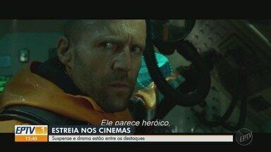 Suspense 'MegaTubarão' e drama 'Vidas à Deriva' estreiam nos cinemas - Confira dicas dos lançamentos da semana nas telonas de Ribeirão Preto.