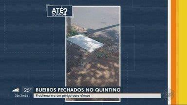Bueiros recebem novas tampas no Bairro Quintino Facci I em Ribeirão Preto - Problema que acontecia perto de uma escola e oferecia risco aos alunos foi resolvido.