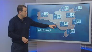 Veja como ficará o tempo em todas as regiões de SC nesta sexta-feira (10) - Veja como ficará o tempo em todas as regiões de SC nesta sexta-feira (10)