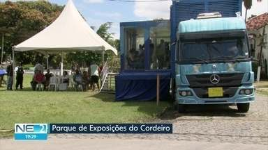 Parque de Exposições do Cordeiro recebe caminhão de negociação da Caixa Econômica - Iniciativa é uma oportunidade para quitar dívidas em atraso com o banco.