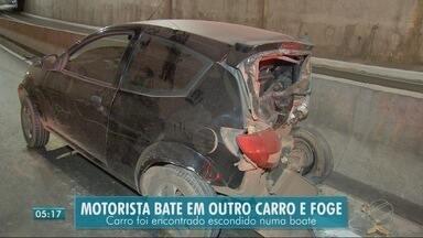 Depois de bater o carro, motorista esconde carro em pátio de boate - Depois de bater o carro, motorista esconde carro em pátio de boate