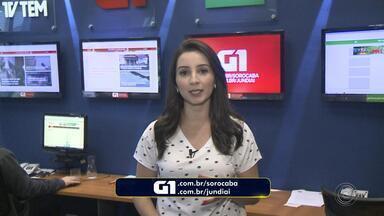 Mayara Corrêa traz os destaques do G1 Sorocaba e Jundiaí nesta sexta-feira - A repórter Mayara Corrêa traz os destaques do G1 Sorocaba e Jundiaí nesta sexta-feira (10).