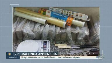 PM apreende 286 quilos de maconha e prende suspeito em Limeira - Droga estava escondida nos fundos da residência onde um morreu e outro foi preso na quarta-feira (8), no Parque das Nações.