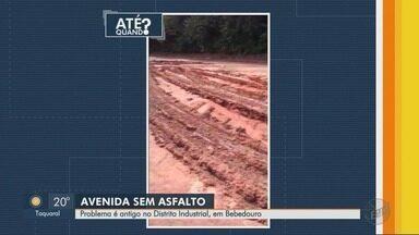 Moradores reclamam que avenida vira lamaçal em dias de chuva em Bebedouro, SP - Problema acontece na Avenida João Ferreira Penna no Distrito Industrial.