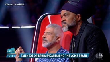 Talentos baianos encantam no The Voice Brasil - Na quinta-feira (9), terminou a fase audições às cegas e diversas vozes da Bahia foram selecionados para o programa.