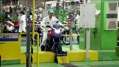 Produção de motos é 19% maior nos sete primeiros meses de 2018 - Número que fez o setor rever para mais o índice de crescimento que era esperado para o ano todo.