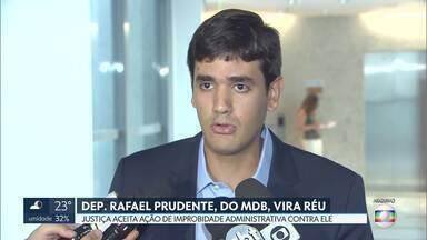 Deputado distrital Rafael Prudente, do MDB, vira réu - Ministério Público denunciou o distrital por improbidade administrativa depois que ele deu parecer favorável a um projeto de lei sobre incentivos fiscais.