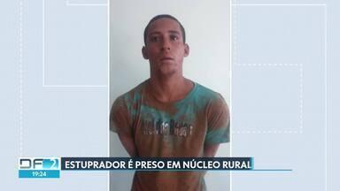 Homem é preso depois de estuprar mulher no Núcleo Rural Boa Esperança - A PM foi acionada por testemunhas, que ouviram os gritos da vítima e conseguiram amarrar Robson Machado dos santos, de 23 anos.