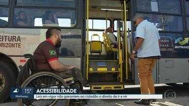 Mais de 100 leis que beneficiam portadores de deficiência não garantem direitos de ir e vi - A legislação municipal tem 140 leis, mas esta população ainda sofre com obstáculos de mobilidade urbana em Belo Horizonte.