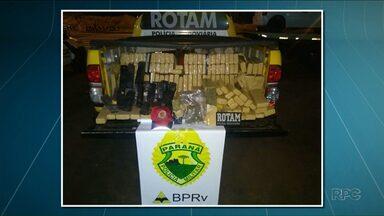Polícia apreende quase 200 kg de maconha na PR-323 - Apreensão foi em Cruzeiro do Oeste.