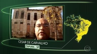 Vídeos de Itapura, Piên, Capitão Andrade, Canarana, Curimatá - Moradores de Itapura (SP), Piên (PR), Capitão Andrade (MG), Canarana (BA) e Curimatá (PI) dizem o que querem do futuro.