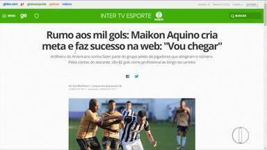 """Rumo aos mil gols: Maikon Aquino cria meta e faz sucesso na web: """"Vou chegar"""" - Assista a seguir."""